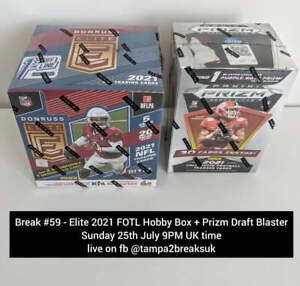 CAROLINA PANTHERS - 2021 Panini NFL Donruss Elite FOTL Hobby Box Break