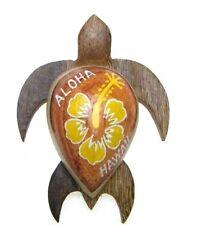 "NEW Hawaiian Souvenir Hawaii Fridge Magnet  ~ 3"" Medium Wood Turtle # 18128"