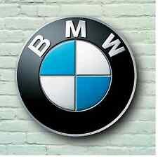 BMW LOGO 2FT LARGE GARAGE SIGN WALL PLAQUE CAR CLASSIC WORKSHOP MECHANIC M3 M5