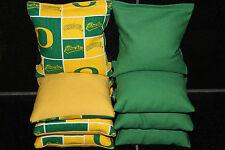 Oregon Ducks 8 Cornhole Bean Bags/ Baggo Toss Top Quality Handmade! New!