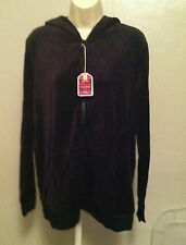 Old Navy Maternity Large/L * Velour Couture Glamour Zip Hoodie * Dark Brown BNWT