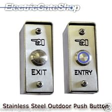 Exterior Stainless Steel Entry Exit Button with Reversible  Front Plate