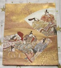 VINTAGE Giapponese Kimono da sposa seta OBI tessuto origini nobili Uomini Donne