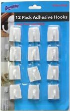 12 pcs Medium Wall Adhesive Hooks Just Peel & Stick  Kitchen bath office