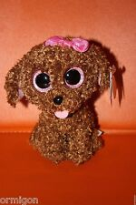 "Ty Beanie Boos 6""  MADDIE the Dog CLAIRE'S Exclusive 2014- MWMT! NEW!"