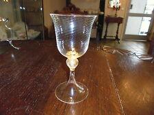 Murano handgeferigtes Weinglas 16 cm mit Goldflitter in Fuß