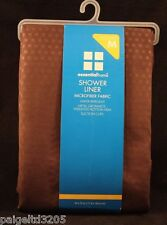 Essential Home Microfiber Fabric Chocolate Brown Shower Liner 70 x 72""