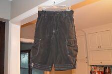 Plugg Boys Cargo Shorts Size 12 Black Polyester