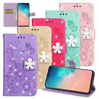 Bling Flip Leather Wallet Case Cover For Samsung Galaxy S20/S10 Plus/S9/S8/S7