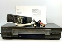Toshiba W-602 VCR 4 Head Hi-Fi Stereo VHS Player Recorder Super Bundle Package !