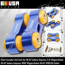 Front ANTI ROLL SWAY STABILIZER BAR End Link fit 06-07 Subaru Impreza 2.5i BLUE