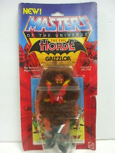 Vintage Carded He-Man Masters of The Universe GRIZZLOR Figure MOC  Sealed