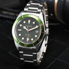 41mm Parnis Green Dial Sapphire Glass Water Resistan Miyota Automatic mens Watch
