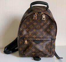 NEW! LOUIS VUITTON LV PALM SPRINGS PM MONOGRAM BLACK BROWN BACKPACK BAG