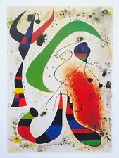 "JOAN MIRO RARE 1999 SPANISH SURREALIST LITHOGRAPH PRINT "" LA NUIT - NIGHT "" 1953"