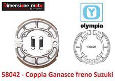 """58042 - Coppia Ganasce Freno """"OLYMPIA"""" per SUZUKI UC 150 Epicuro dal 1998 - 2003"""