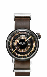 Bomberg Women's CT38H3PBA-08-1-9 BB-01 38mm Black/Brown Dial Leather Watch
