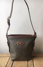 The Bridge Italy Brown Leather Messenger Shoulder Beach Handbag Brown Women VGC