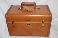Vintage Samsonite Ladies Train Case Shwayder Bros. Denver Co Luggage Tag as is