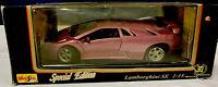 1:18 scale, 1994 Maisto Special Edition Lamborghini SE, pink, Die Cast Car