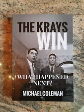 The Krays Win Fiction Crime Book By Michael Coleman Signed New Kray 1st Edition