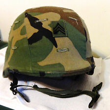 U.S. Army Military Kevlar PASGT Helmet CAMO Cover Combat Tested Full Liner