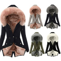 Fashion Womens Lining Coat Winter Warm Thick Long Jacket Hooded Overcoat