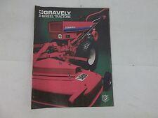 Gravely 5000 Series Two Wheel Tractors Sales Brochure