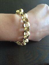 "18k solid gold handmade  Women's chain/Bracelet 7""  19.84 grms"