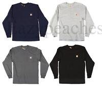 Carhartt Men's Long Sleeve Pocket T-shirt, Cotton, Regular, Big, Tall Fit, K126
