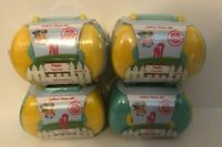 Puppy In My Pocket Puppy Carrier 3 Yellow & 1 Blue Series 8 Lot of 4, NEW