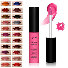 Soft Matte Lip Cream Sexy Long Lasting Lip Gloss Moist Shiny Lipstick 34 Colours