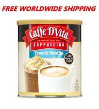 Caffe D'Vita Premium Instant Cappuccino French Vanilla 16 Oz FREE WORLD SHIPPING
