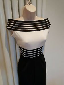 Beautiful White Black off Shoulder Jump Suit Size 10 New with Tags