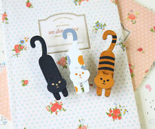 Naughty Cats Wooden Clips colorful kawaii deco peg wooden card holder photo clip