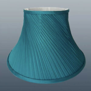 """20cm / 8"""" Twisted Pleated Fabric Table Lamp Shade Ceiling Light Lampshade Teal"""
