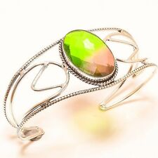 BI-COLOR TOURMALINE ETHNIC STYLE CUFF Jewelry BRACELET Adjustable C-51