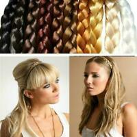 1Pc Women Synthetic Hair Plaited Elastic Headband Wig Hairband Braided Headwear