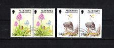 Aurigny Alderney  timbre  faune et flore  de carnet 1994  num:  75/7a   oblitéré