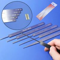 GALAXY Tools Stainless Steel 0.8mm Ultrathin Model File Stick Grinding Tool New