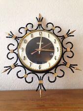 horloge pendule bayard  métal doré et noir   vintage années 50 60 70