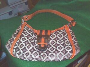 Brown / Orange and Tan WORTHINGTON Handbag / Purse
