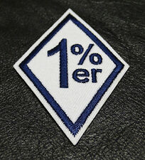 ONE PERCENTER 1%ER ANARCHY OUTLAW 3 INCH IRON ON MC DRK NVY BIKER PATCH