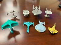Lot Of 4 1990s Rawcliffe Pewter Star Trek Ships Enterprise + 4 Micro Machines