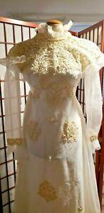Original Vtg victorian steampunk  Wedding Dress