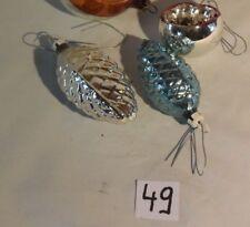 C49 3 Très anciennes boules de Noël Old christmas ball