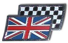 Union Jack Crossed Flags Metal Enamel Badge Emblem Classic Car Self Adhesive MGF