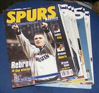SPURS MONTHLY THE OFFICIAL MAGAZINE OF TOTTENHAM HOTSPUR FC VARIOUS ISSUES