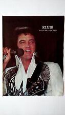 ELVIS PRESLEY JANUARY 8,1935 -AUGUST 16,1977.RARE ORIGINAL PRINT PROMO POSTER AD