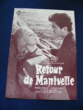 1958 RETOUR DE MANIVELLE Press Peter Van Eyck Michele Morgan Daniel Gelin RARE